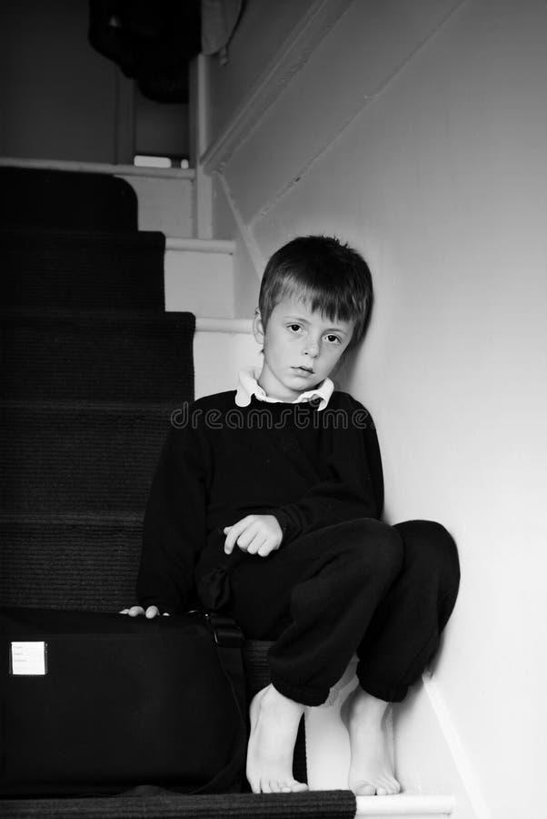Einsames Kind. stockfotos