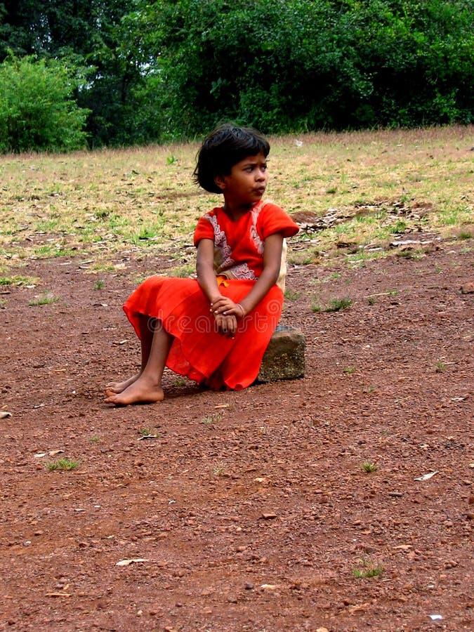 Einsames Mädchen stockfotografie