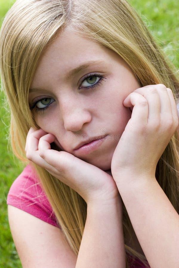 Einsames Mädchen lizenzfreie stockbilder