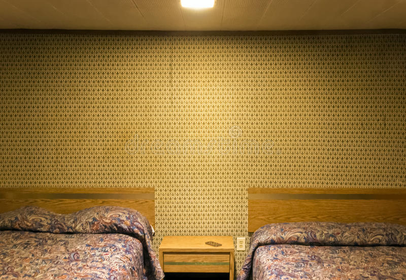 Einsames Motelzimmer stockfoto