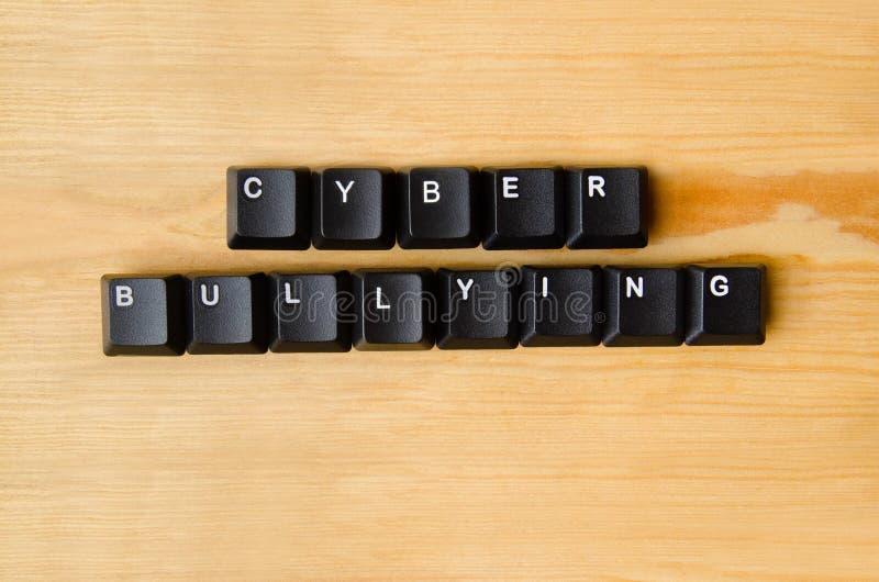 Einschüchterungswörter des Cyber lizenzfreie stockfotografie