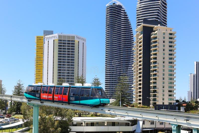 Einschienenbahn in Gold Coast lizenzfreie stockfotos