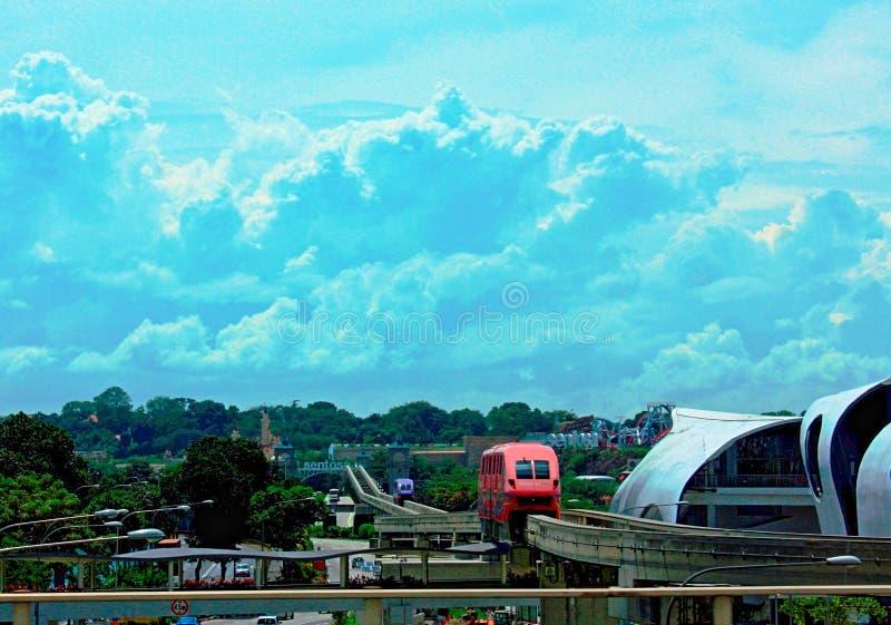 Einschienenbahn-Transport in Singapur stockbild