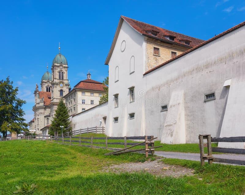 Einsiedeln abbotskloster i Schweiz royaltyfri foto