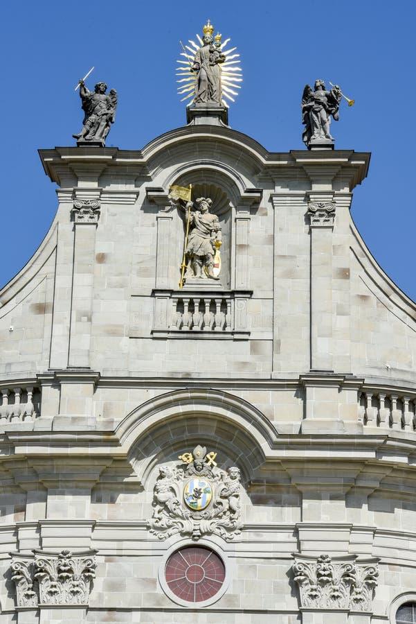 Einsiedeln opactwo na Szwajcaria obraz royalty free