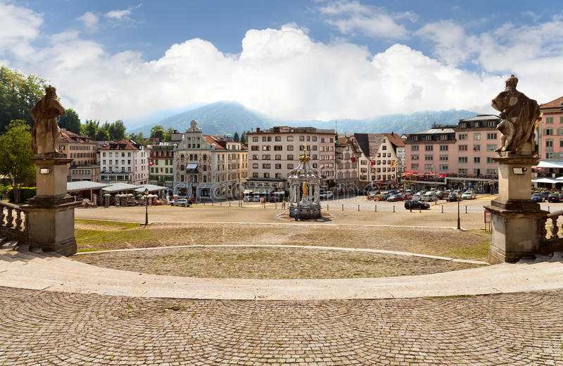 Download Einsiedeln, Switzerland. Pilgrimage Place. Stock Photo - Image of town, square: 27807344