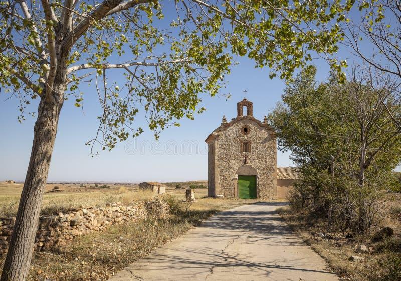 Einsiedlerei vom heiligen begraben in Monforte De Moyuela stockfoto