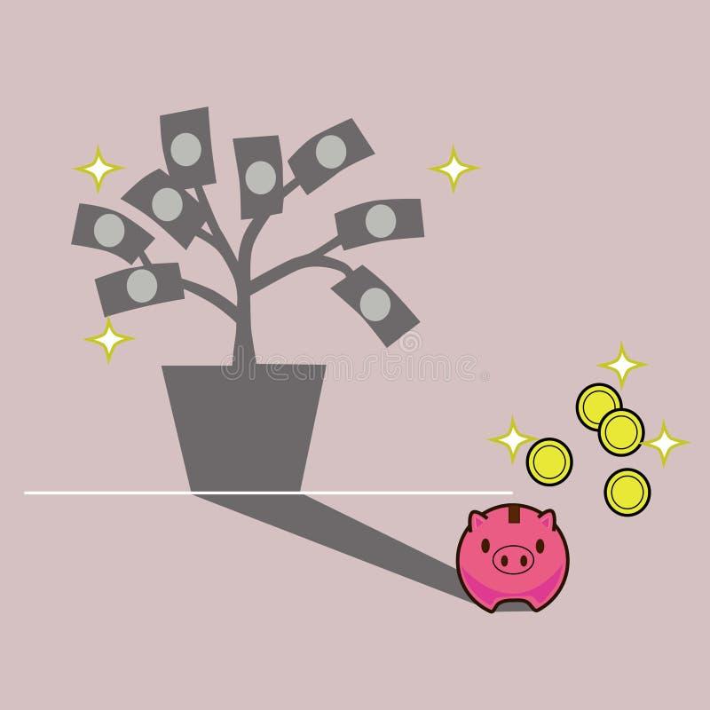 Einsparung-Geld für Zukunft lizenzfreie abbildung