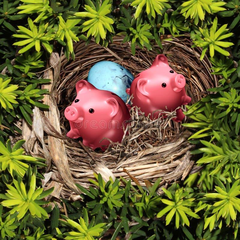Einsparungens-Nest stock abbildung