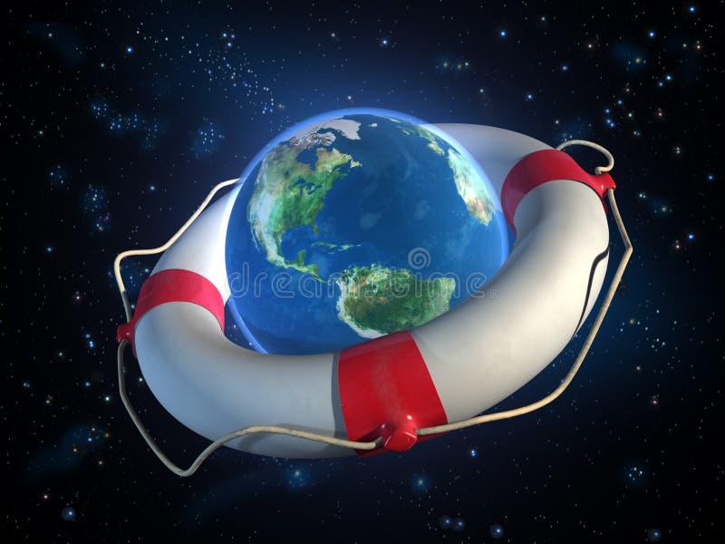 Einsparungplanet Erde vektor abbildung