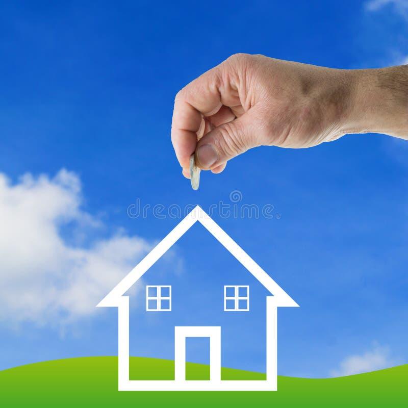 Einsparungsgeld für Haus lizenzfreie abbildung