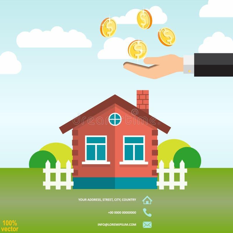 Einsparungsgeld f?r die Immobilieninvestierung vektor abbildung