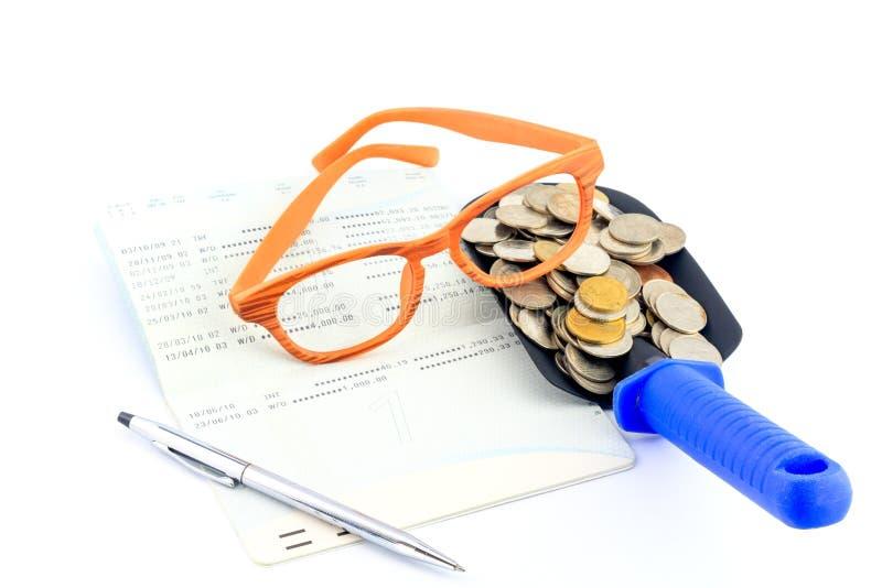 Einsparungsgeld Und Bankbuch Lizenzfreie Stockfotos