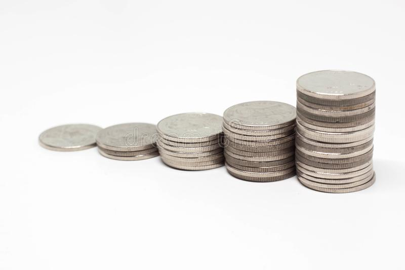 Einsparungsgeldkonzept des Wachsens wohlhabend und des Geschäfts stockbild