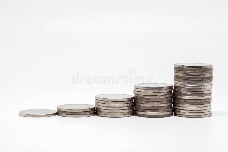 Einsparungsgeldkonzept des Wachsens wohlhabend und des Geschäfts stockfotos