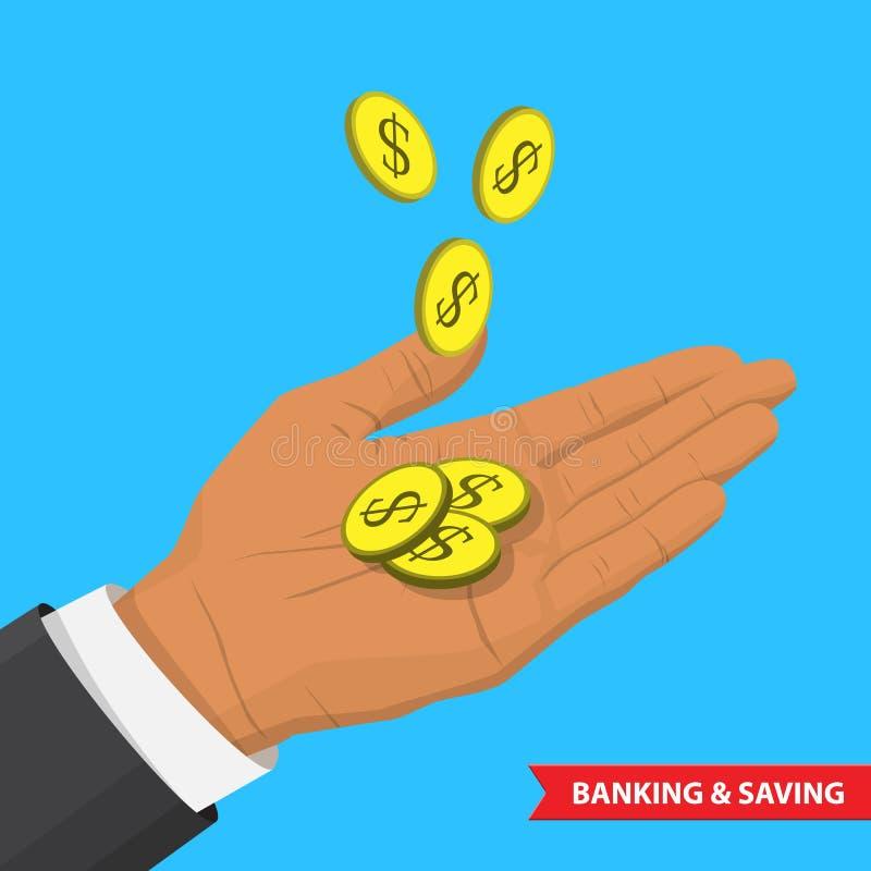 Einsparungsillustration Bankwesenamerikanischen nationalstandards stock abbildung