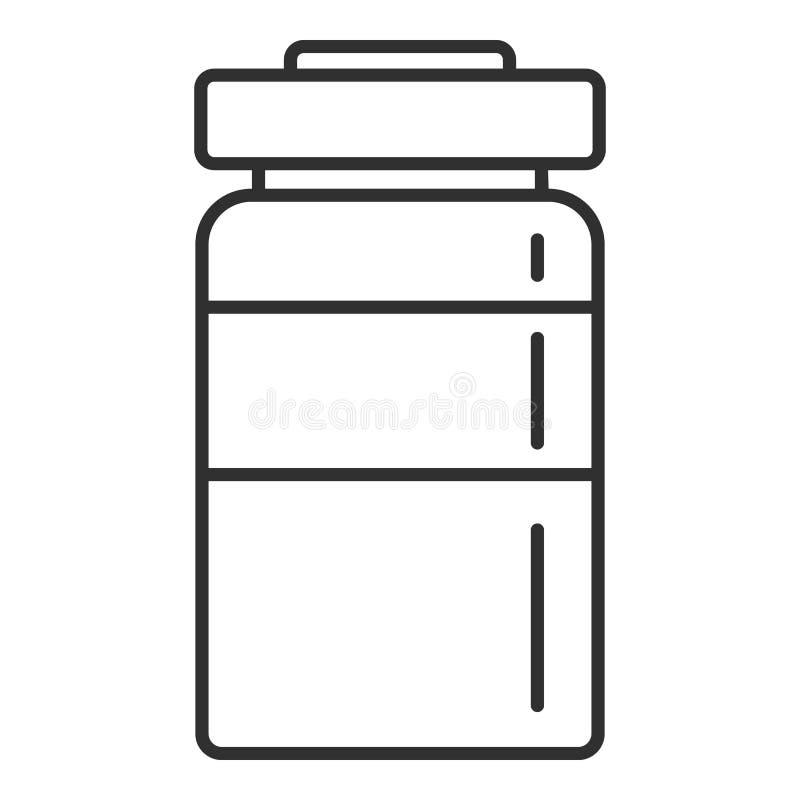 Einspritzungsflaschenikone, Entwurfsart stock abbildung
