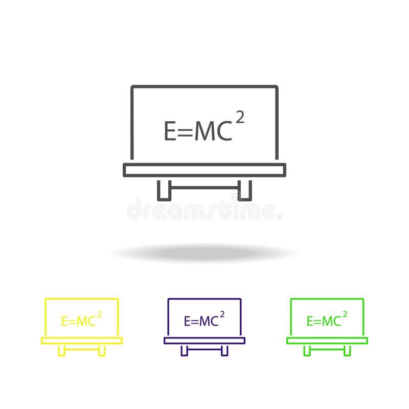 Einstein \ 'iconos coloreados ley de s Elemento del ejemplo de la ciencia Línea ejemplo fina para el diseño y el desarrollo, app  stock de ilustración