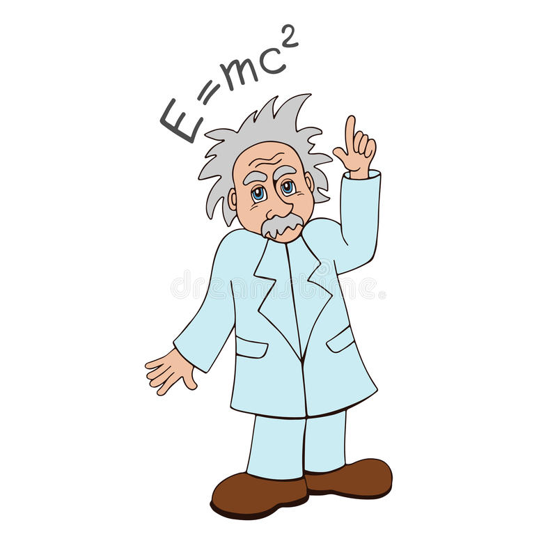 einstein royaltyfri illustrationer