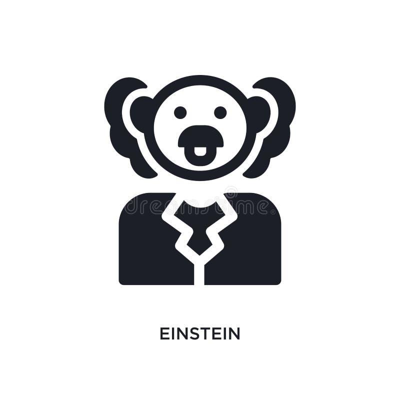 einstein aisló el icono ejemplo simple del elemento de iconos del concepto de la ciencia diseño editable del símbolo de la muestr stock de ilustración