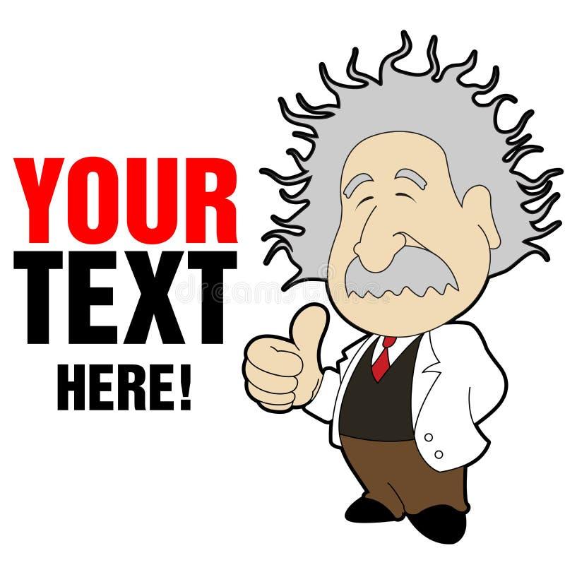 Einstein Cartoon royalty free illustration