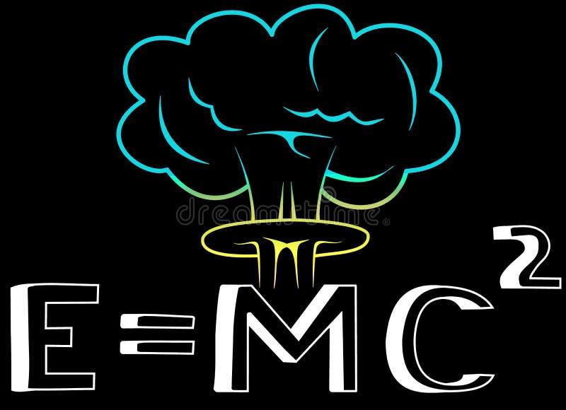Einstein Ecuation de l'énergie illustration de vecteur