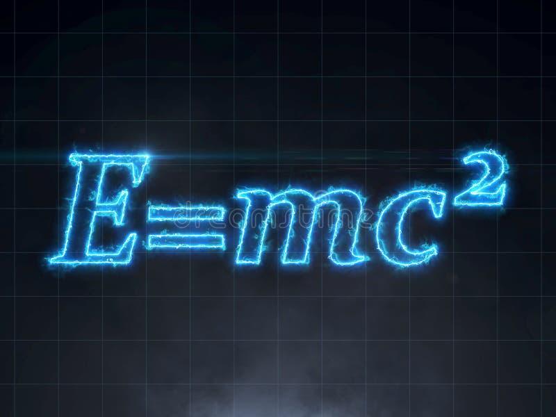 Einstein formel - teori för relativitet E=mc2 stock illustrationer