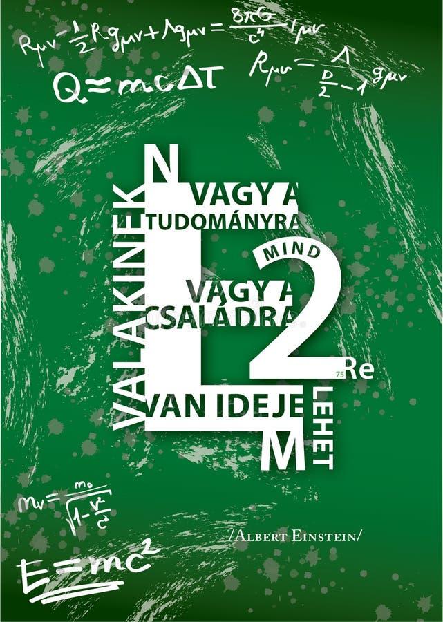 Einstein Hongaarse typografie royalty-vrije stock foto's