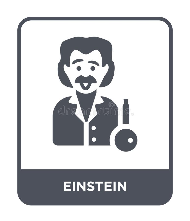 einstein icon in trendy design style. einstein icon isolated on white background. einstein vector icon simple and modern flat vector illustration