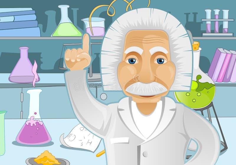 Einstein idé vektor illustrationer