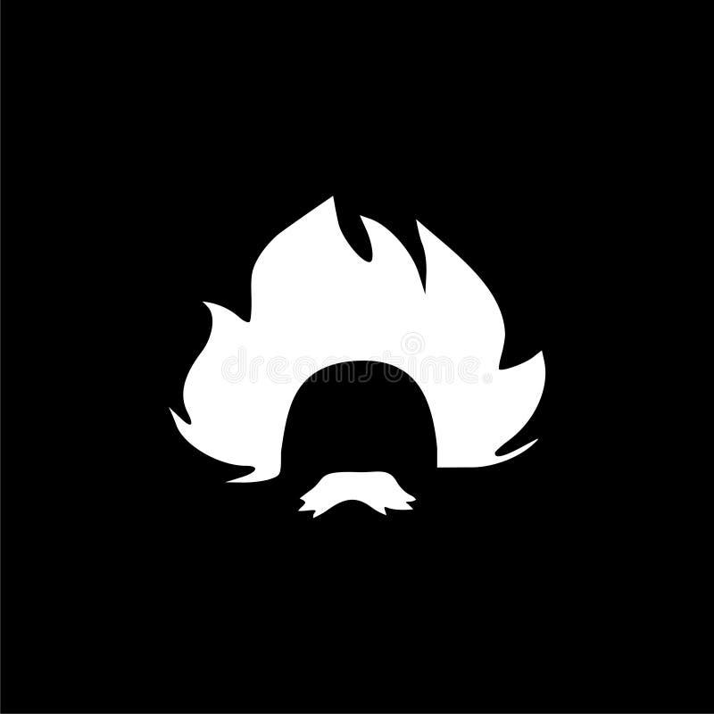 Einstein ikona, profesor, naukowa logo ilustracji