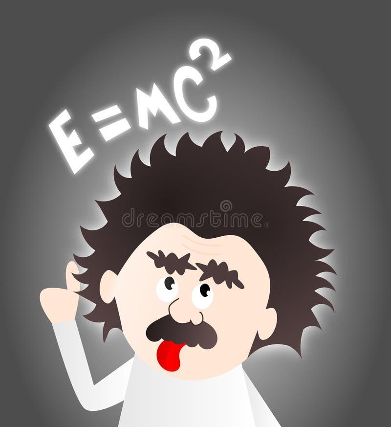 Einstein kreskówka royalty ilustracja