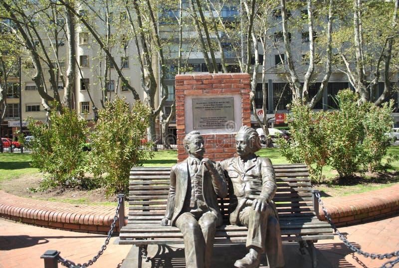 Einstein och Vaz Ferreira arkivbild
