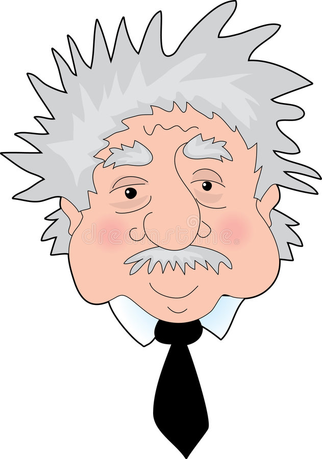 Einstein Portrait. A Funny Portrait of Albert Einstein's face vector illustration
