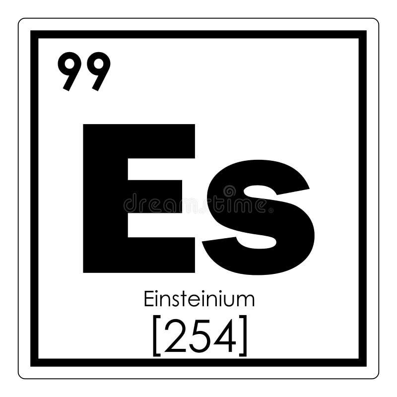 Einsteinium chemisch element vector illustratie