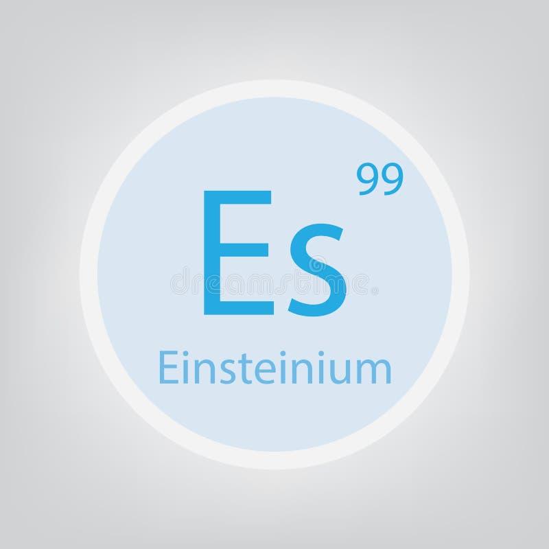 Einsteinium chemisch het elementenpictogram van S vector illustratie