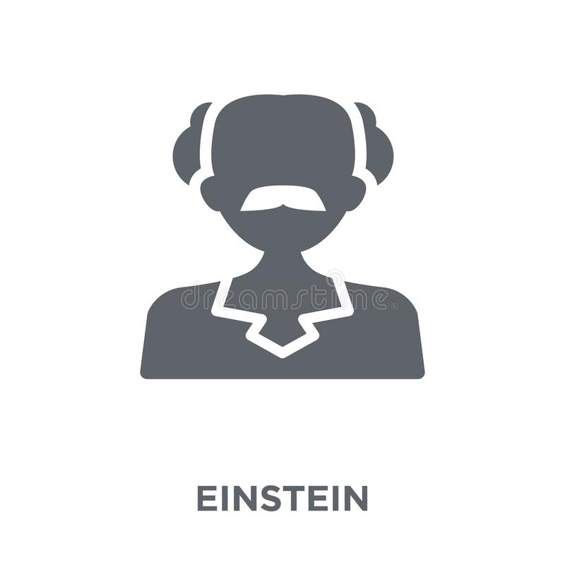 Einsteinpictogram van inzameling stock illustratie