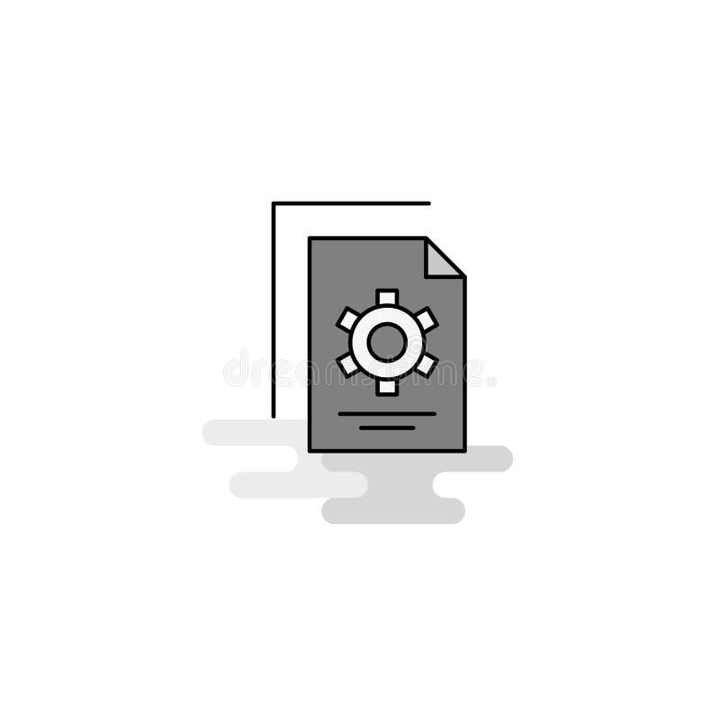 Einstellung der Dokument Netz-Ikone Flache Linie füllte Gray Icon Vector vektor abbildung