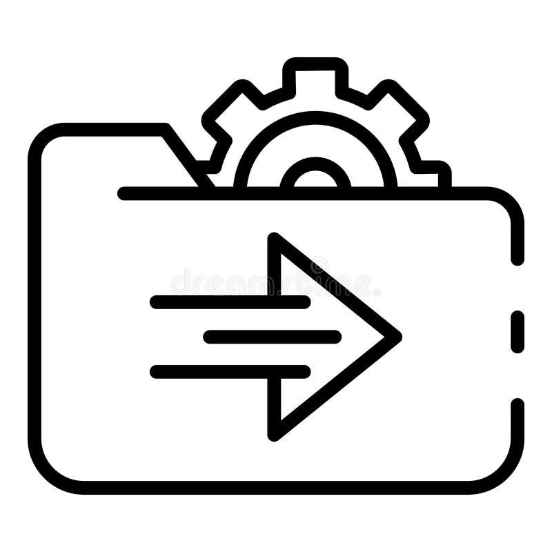 Einstellung die Bewirtung der Verzeichnisikone, Entwurfsart lizenzfreie abbildung