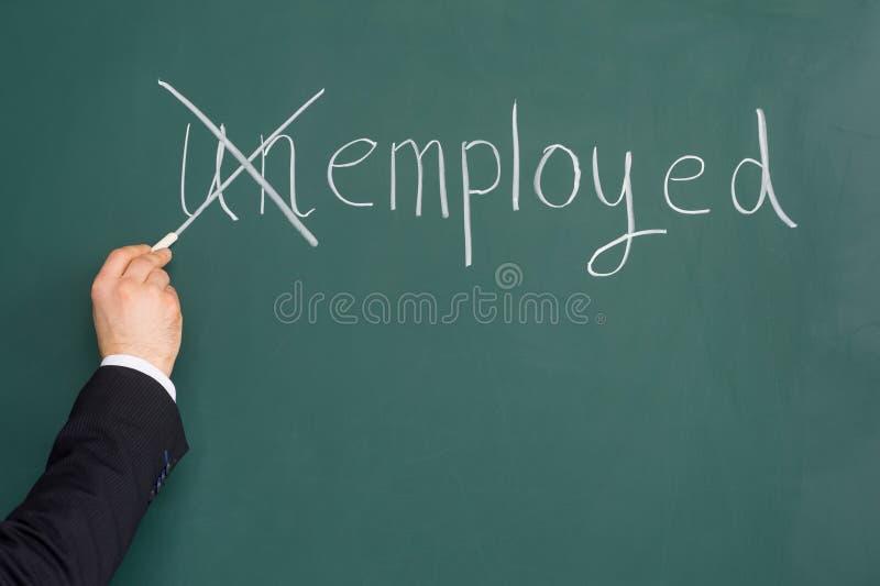 Einstellungs-oder Beschäftigungs-Fragen. stockbild