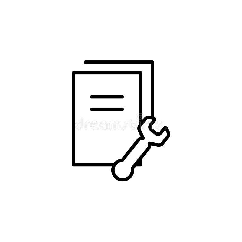 Einstellungsdatendokumente, Dateien, Informationen lizenzfreie abbildung
