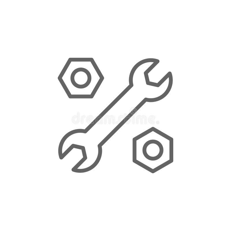 Einstellungsentwurfsikone Elemente der Gesch?ftsillustrationslinie Ikone Zeichen und Symbole k?nnen f?r Netz, Logo, mobiler App,  stock abbildung