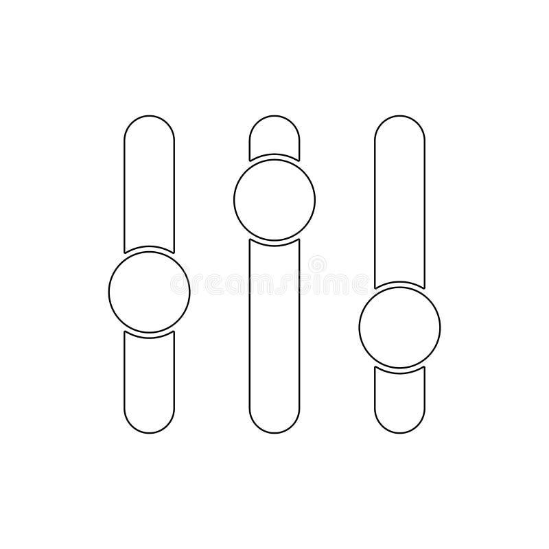 Einstellungskippentwurfsikone Zeichen und Symbole k?nnen f?r Netz, Logo, mobiler App, UI, UX verwendet werden lizenzfreie abbildung