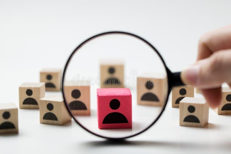 Einstellungskonzept, das nach Angestelltem sucht lizenzfreie stockbilder