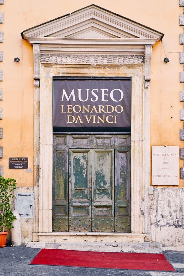 Einstiegstür zum Museum von Leonardo da Vinci August 3, 2017 lizenzfreies stockfoto
