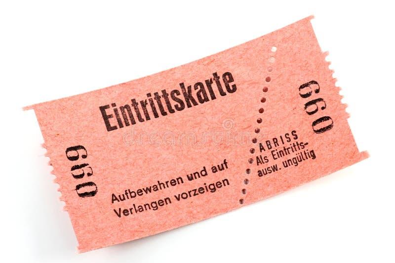 Eintrittskarte lizenzfreie stockfotografie