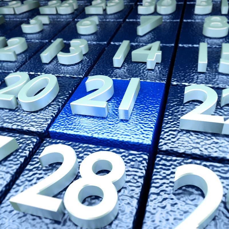 Einundzwanzigster Kalendertag lizenzfreie abbildung