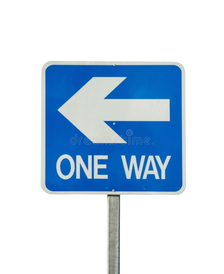 Einwegverkehrszeichen getrennt lizenzfreie stockbilder