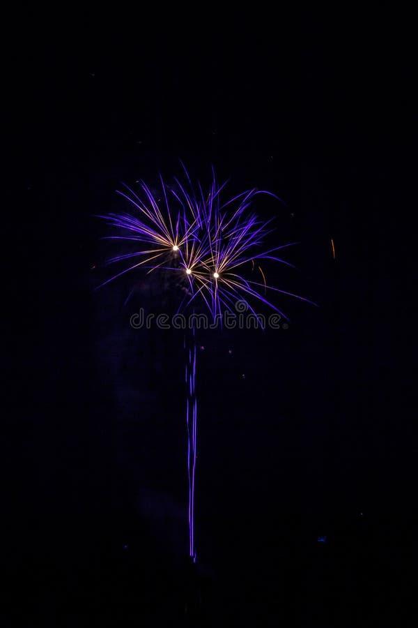 Einwohnerstarke festliche Feuerwerke lizenzfreie stockfotos