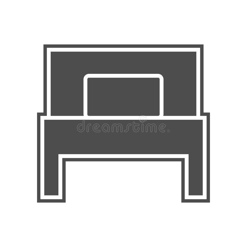 Einzelbettikone Element von minimalistic f?r bewegliches Konzept und Netz Appsikone Glyph, flache Ikone f?r Websiteentwurf und En vektor abbildung